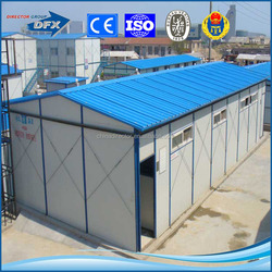 china low cost thermal insulated water proof simple and economical modular steel frame prefab house