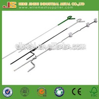 Plastic Poly resistance and steel spike Pigtail Electric fencing system posts