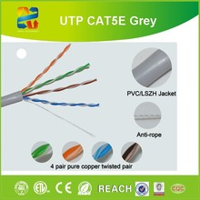 Pass Fluke Test UTP Cat 5e Cable Grey 305m Pull Box Detailed Picture