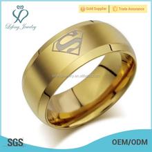 Fashion superman wedding ring, gold ring designs for men