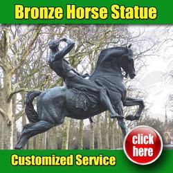 Famous Bronze Horse Statue Kensington Gardens (Customized Service Is Available )