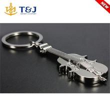 Fashion Violin Metal Plate Keyring Cheap Custom Keychains