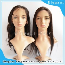 QingDao Hot Selling Body Wave 100% Human hair French Lace Wig
