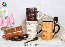 Personalized custom printed ceramic mugs coffee mug with spoon