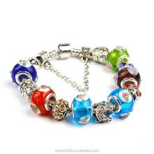 PDR119 Wholesale Murano Glass Beads Charm Bracelets ,European Style Bracelet For Women