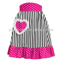 zebra color with a heart half apron for women use
