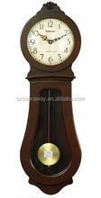 Wall Clocks For Bedroom wholesaler,Glass Wooden Pendulum Wall Clock
