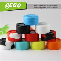 2015 New arrival silicone weed jar wax/oil containers,silicone lid glass food container,silicone jar