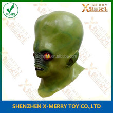 X-MERRY Latex bald head full face mask halloween party