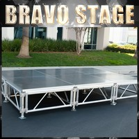 Long Span Stage With Brace Used Portable Stage For Sale Steel Mobile Stage Factory