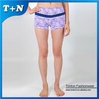 polyester mma womens printed custom brand surf yoga shorts