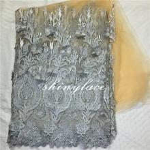 Mais recente bordado desenhos de flores francês laço de tule para festas