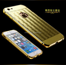 Hybrid Ultra Thin Aluminum Metal Frame Bumper + PC Back Cover Case For iphone 6s