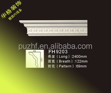 9203 Factory price exterior and Interior decorative PU foam cornice moulding ,pvc panel for wall