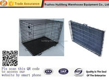 Portable Metal Folding Puppy Cage Dog Crate New Pet Kennel Cat Carrier Tray