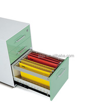 office furniture 2015 hot sale !Apple green design steel cabinet with two doors vertical two drawers made in china
