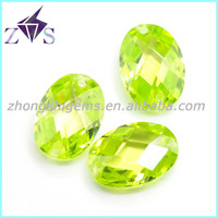 Oval Double-checkerboard Cut Facted CZ Gem