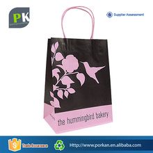 Logo Printing Cheap Brown Kraft Paper Bag with Twisted Handle