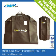 lightweight economic non woven garment bag- black