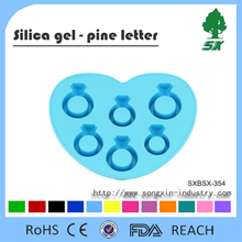 Diamond Ring Shape Silicone Mold for Ice Cube Tray with Various Colors