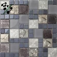 MB SMP19 Home Decor Ideas Modern Backsplash Tile Design Glass Mosaic Tile Art Glass Wall Decor
