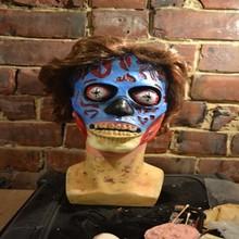 RJ-027 Yiwu Caddy Horror Mask Realistic Creepy Halloween Costume Prop Novelty Latex Rubber