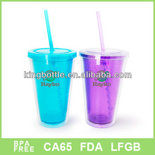 Outdoor hot sell disposable plastic cup and mugs with straw