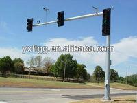 steel traffic signal galvanized poles