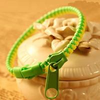 Cheap Custom Promotion Plastic Zipper Bracelet