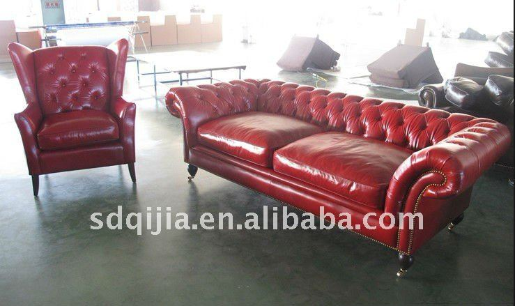 red chesterfield sofa leather living room furniture sofa. Black Bedroom Furniture Sets. Home Design Ideas