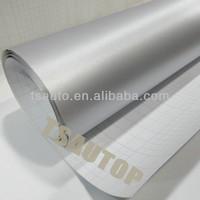 TSAUTOP ROHS certificate 1.52*30m free bubbles brush aluminum film silver auto body wrap color change vinyl/adhesive folie