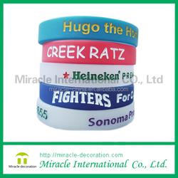 wholesale price for custom silicone wristband ,silicone bracelet