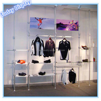 shop wall display window rack showcase equipment for retail store