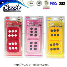 New Dice shape hanging perfume pendant air freshener for car home or office