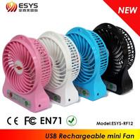 Portable rechargeable USB mini fan