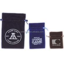 Custom large black velvet bag for gift package/velvet shoe bags/ jewelery pouch wholesale