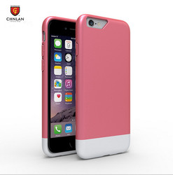 Newest Glossy sweet candy color two part slim slider hard pc cover for iphone 6s case cover