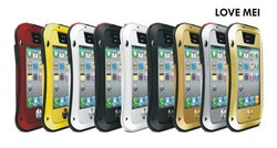 For iphone 4 4s Love mei Waterproof Shockproof Snowproof Powerful Rugged Small Waist Metal Aluminum cover Case