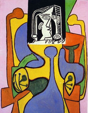 Picasso Woman sitting in an armchair painting reproduction for wall