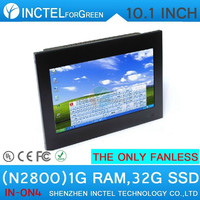 Cheapest industrial led tv box with touchscreen 10.1 inch Atom N2800 1.86Ghz 1G RAM 32G SSD