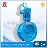 double eccentric flange di/wcb/ss universal flange butterfly valve risilient seat water use