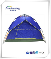 2015 new design hot sale double layer 4 person pop up automatic camping tent