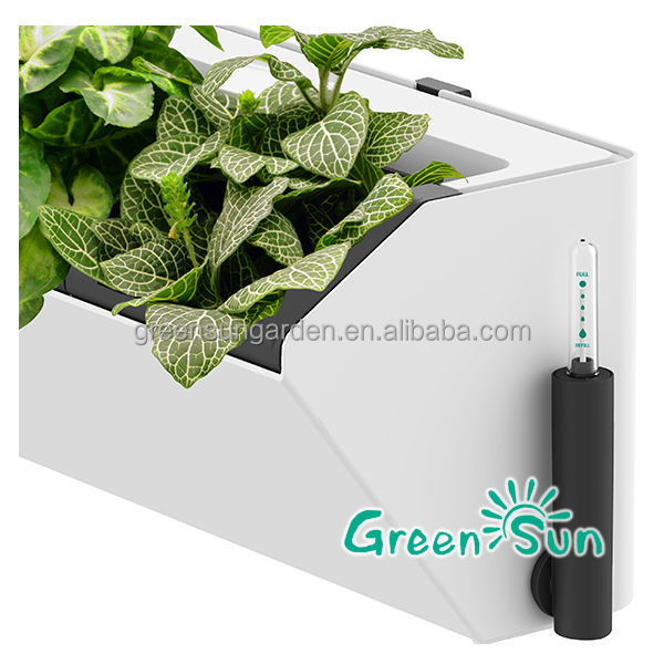 Hot hydroponics vertical new self watering planters buy for Blumentopf wand
