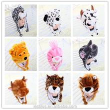 2015 New winter fur hat Plush CUTE animal hats Various styles