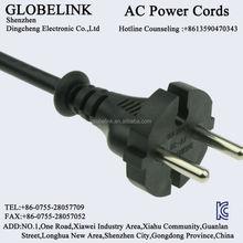 Korea KC AC power plugs h03VV-F 2*075mm2 2PIN ICE C8 C7