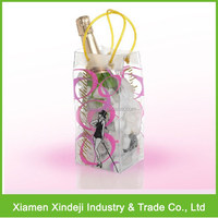 Transparent PVC Ice Bag/ Ice Wine Bag/ Ice Cooler Bag