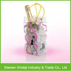 Transparent PVC Ice Bag/ Ice Wine Bag For Cooling