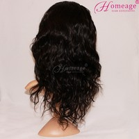 Homeage high quality middle part virgin remy brazilian hair the wig lace front