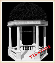 2013 hot sale stone gazebo for garden decoration in stock(30 years factory)
