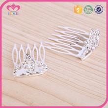 Bright white crystal cheap bridal tiara